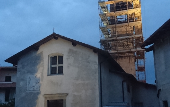 (Italiano) Iniziati i lavori di restauro del campanile