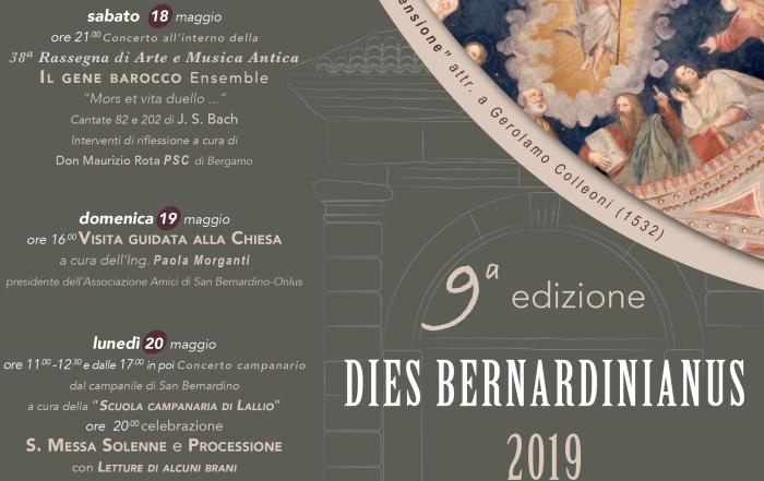 (Italiano) Sabato 18 maggio 3^ concerto della Rassegna e inizio Dies Bernardinianus